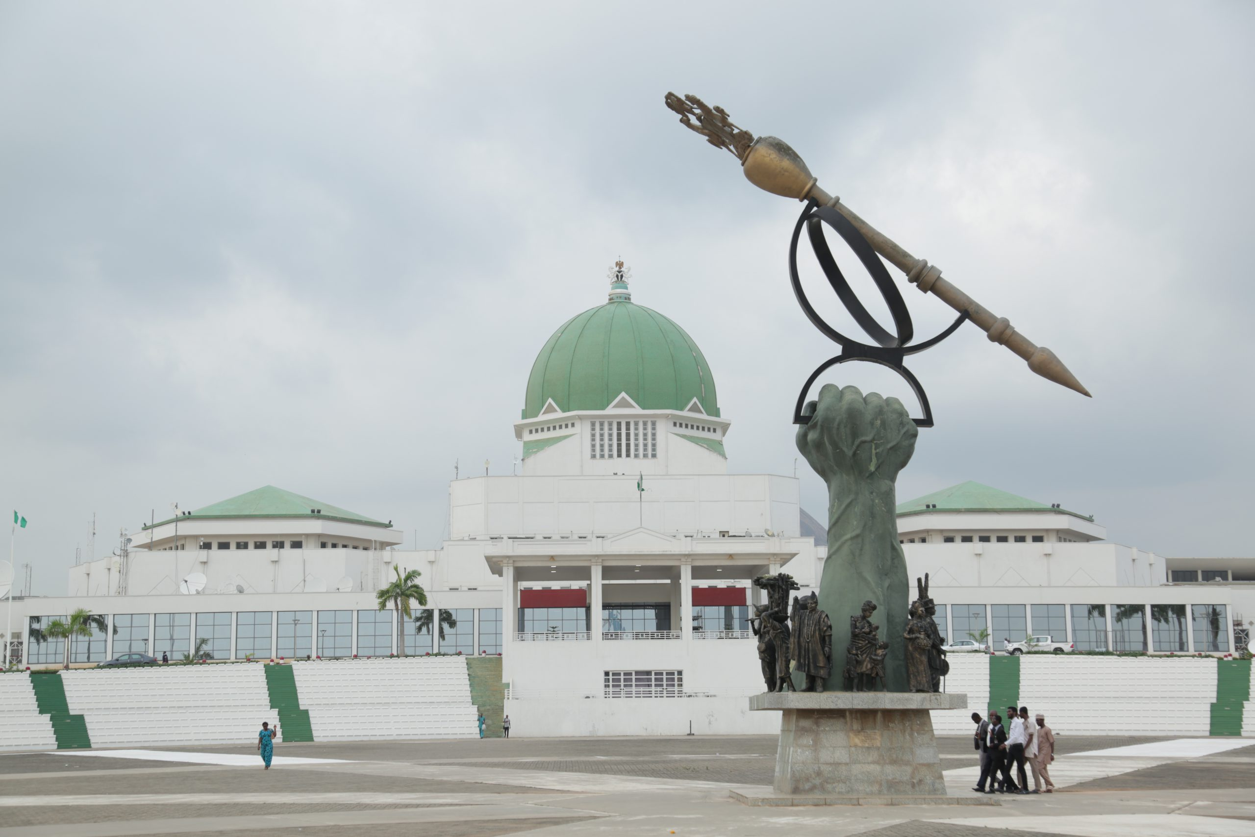 National_Assembly_Building_with_Mace,_Abuja,_Nigeria